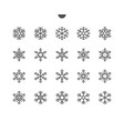 snowflakes ui pixel perfect well-crafted vector image