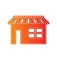 Store sign Orange applique isolated vector image vector image