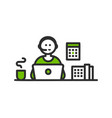 support center liner icon customer vector image vector image