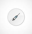 syringe icon 2 colored vector image