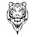 tiger logo black white a tiger vector image vector image