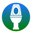 toilet sign white icon in vector image