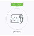 Treasure chest icon Piratic treasury sign vector image