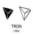 Tron black silhouette vector image