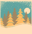 Vintage winter card with snow frame on old poster vector image vector image