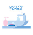 washbasin on white background vector image