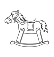 wooden horse toy icon vector image vector image