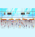 modern airport interior people passengers with vector image