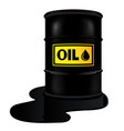 barrel with oil vector image