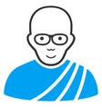 buddhist monk flat icon vector image