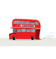 image of a london bus vector image