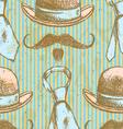 Hat Tie Mustache vector image