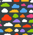 Abstract color clouds seamless pattern vector image vector image