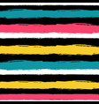 abstract hand drawn seamless pattern with striped vector image vector image