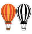 aerostat icons hot air balloons isolated vector image vector image