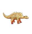 ankylosaurus watercolor of dinosaur vector image vector image
