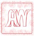 AW monogram vector image vector image