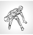 Basketball player abstract silhouette vector image vector image
