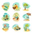 Beach emblems set vector image vector image