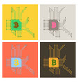 blockchain system and network concept finance vector image vector image