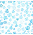 blue snowflakes seamless pattern abstract vector image vector image