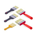 brush paintbrush isometric construction tools vector image