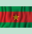 burkina faso realistic waving flag national vector image vector image