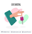 car sharing mobile app icon concept vector image