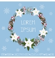 ChristmasNew year WreathGreeting card template vector image