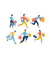 collection male people carrying shopping bags vector image vector image