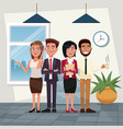 color background workplace office full body set of vector image vector image
