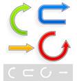 colorfu brightl arrows vector image vector image