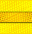 comic yellow bright horizontal banners vector image vector image