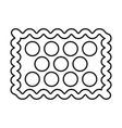 Cookie black color icon