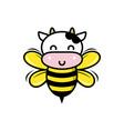 cow bee cartoon mascot
