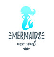 cute mermaid silhouette vector image vector image