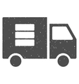 Data Transfer Van Icon Rubber Stamp vector image vector image