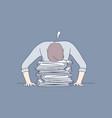 deadline overworking sleep stress overload vector image vector image