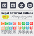 dialog box icon sign Big set of colorful diverse vector image