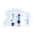 doctor and patient prescription vector image