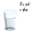 empty drinking glass cup isolated on white vector image vector image
