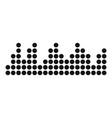 equalizer media radio icon simple black style vector image vector image