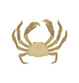 flat icon of crab with big claws sea vector image vector image
