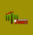 flat icon on background forest fire truck vector image vector image