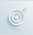 flat paper target vector image