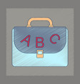 flat shading style icon school bag backpack vector image vector image