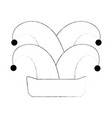 funny harlequin hat icon vector image vector image