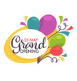 grand opening isolated icon balloons start or vector image vector image