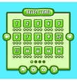 Green game level select icons buttons vector image vector image