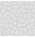 Hand Drawn Uppercase Letters Seamless Pattern vector image